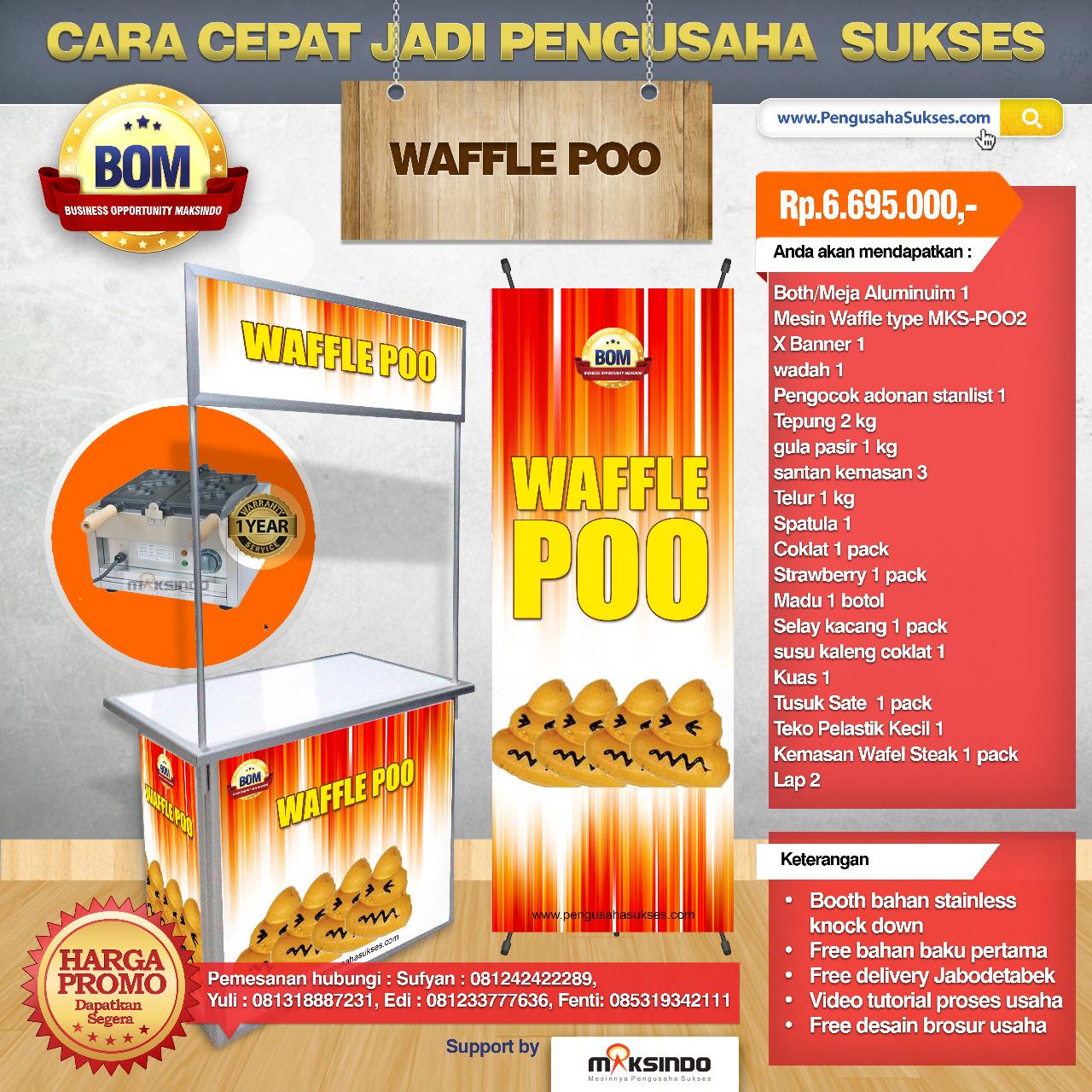 Paket Usaha Waffle Poo Program BOM