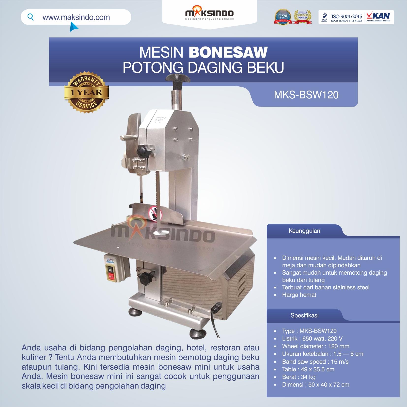 Jual Bonesaw Pemotong Daging Beku (MKS-BSW120) di Yogyakarta