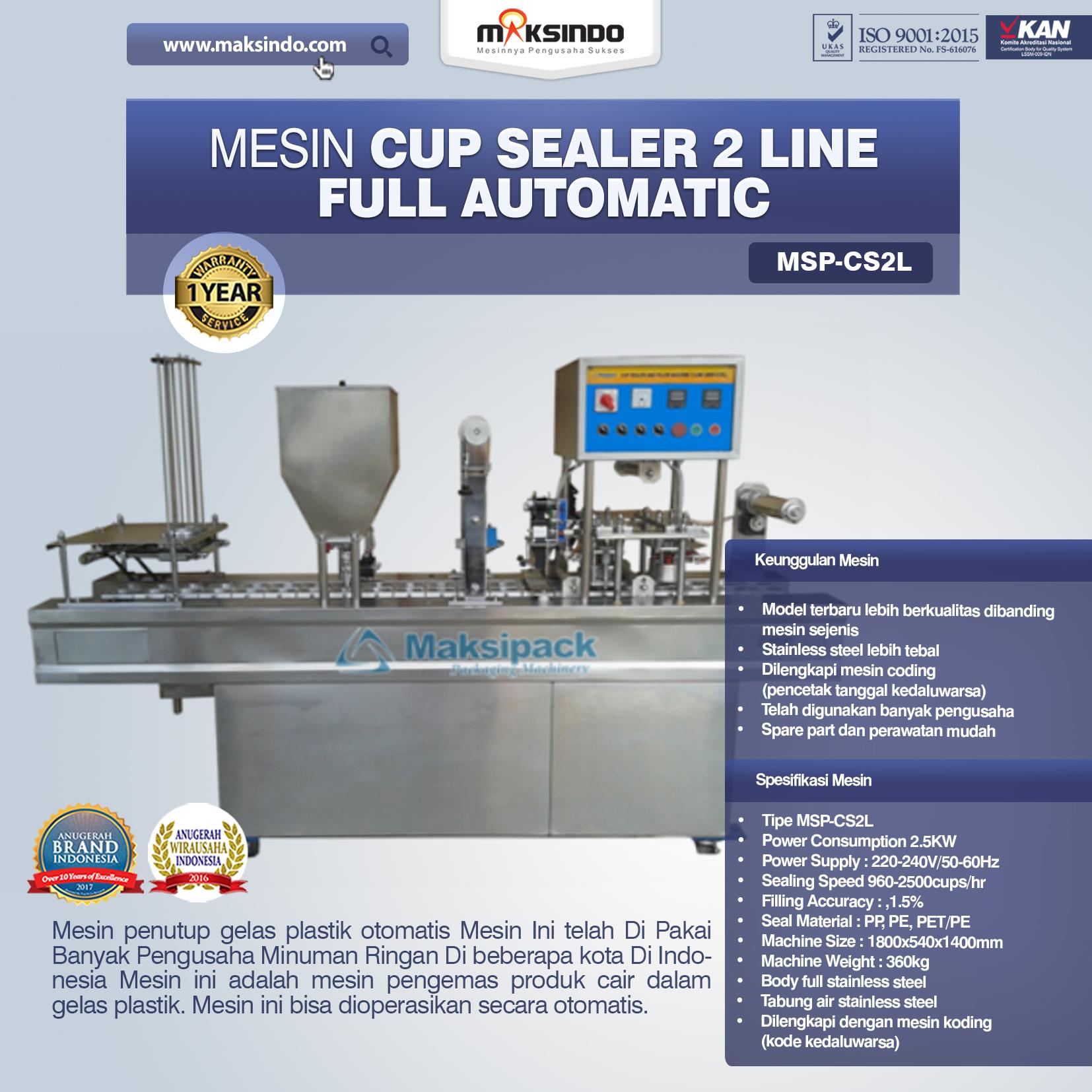 Jual Mesin Cup Sealer Otomatis 2 line dan 4 line di Yogyakarta