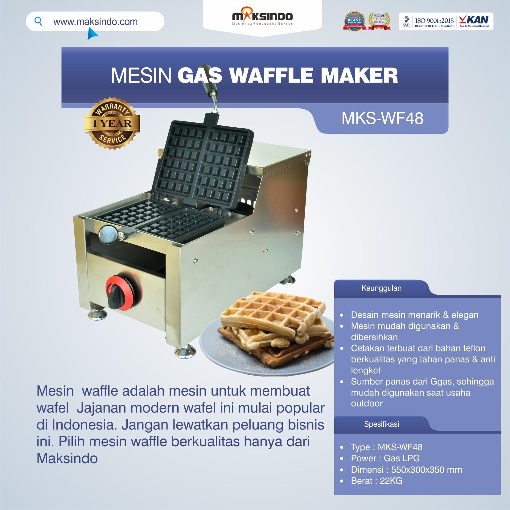 Jual Mesin Gas Waffle Maker MKS-WF48 di Yogyakarta