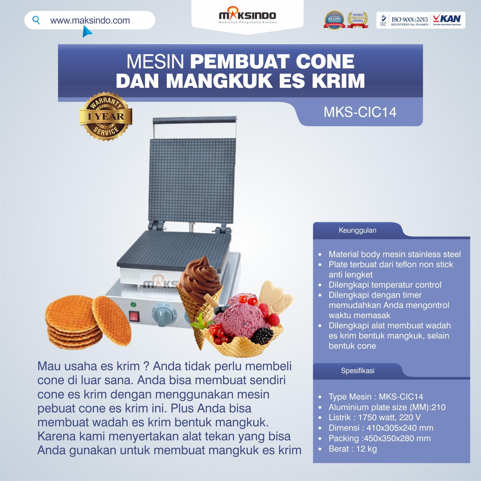 Jual Pembuat Cone dan Mangkuk Es Krim (CIC14) di Yogyakarta