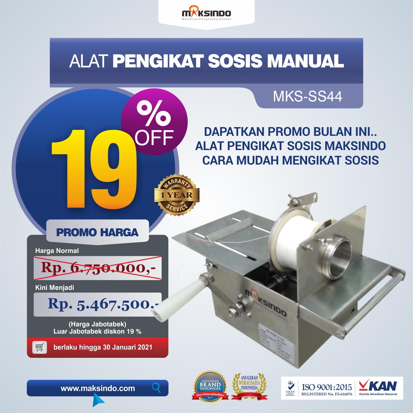 Jual Alat Pengikat Sosis Manual (MKS-SS44) di Yogyakarta