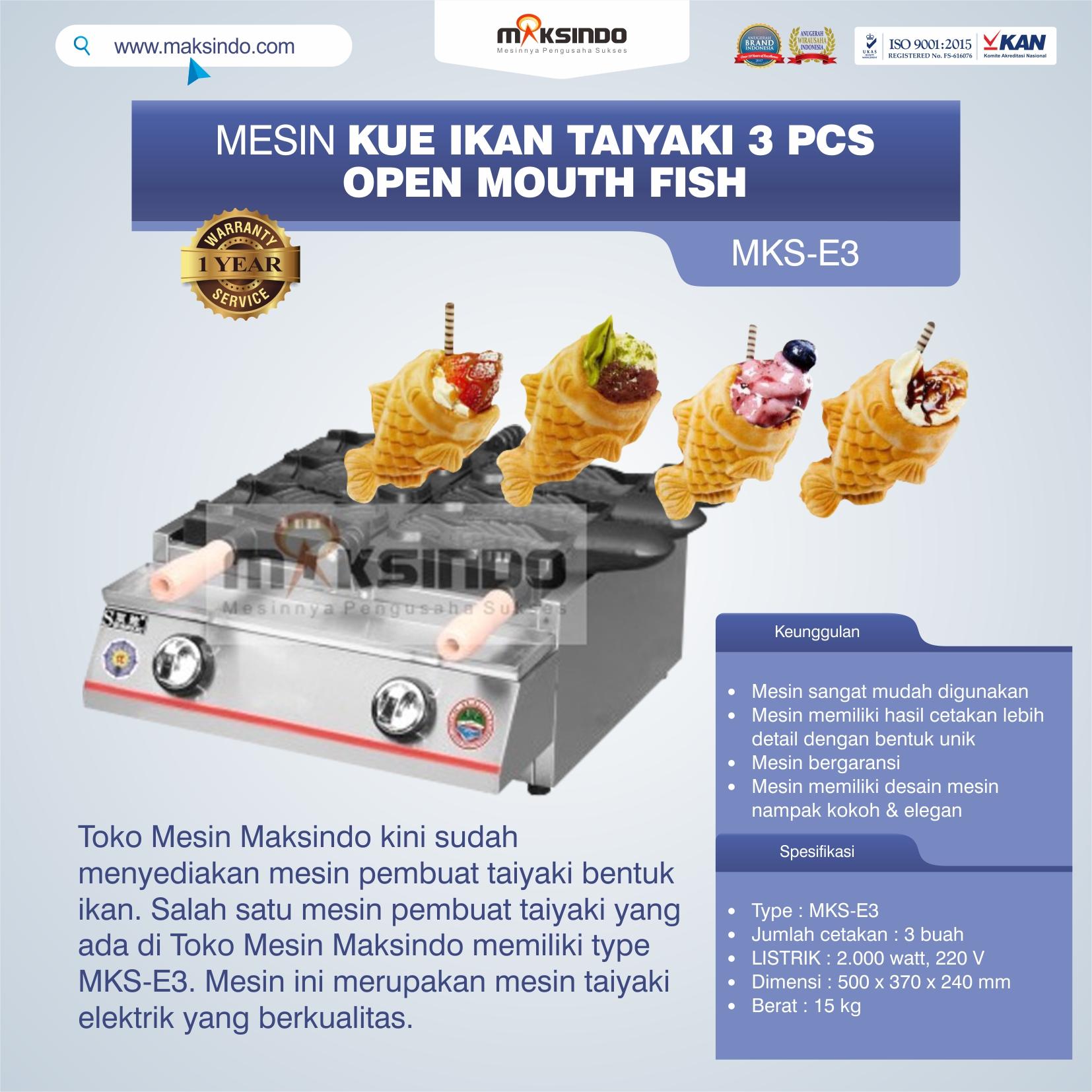 Jual Mesin Kue Ikan Taiyaki (3 pcs) – Open Mouth Fish di Yogyakarta