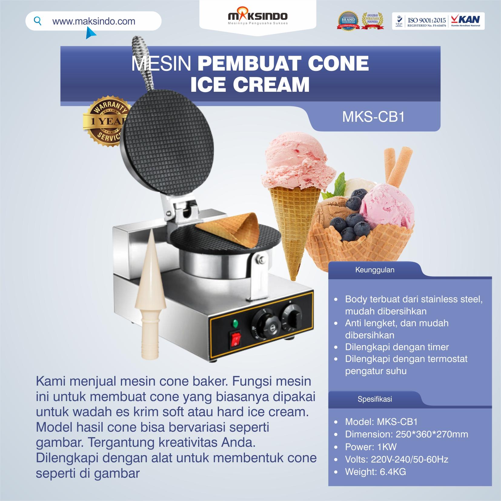 Jual Mesin Pembuat Cone (Cone Baker) Untuk Es Krim di Yogyakarta