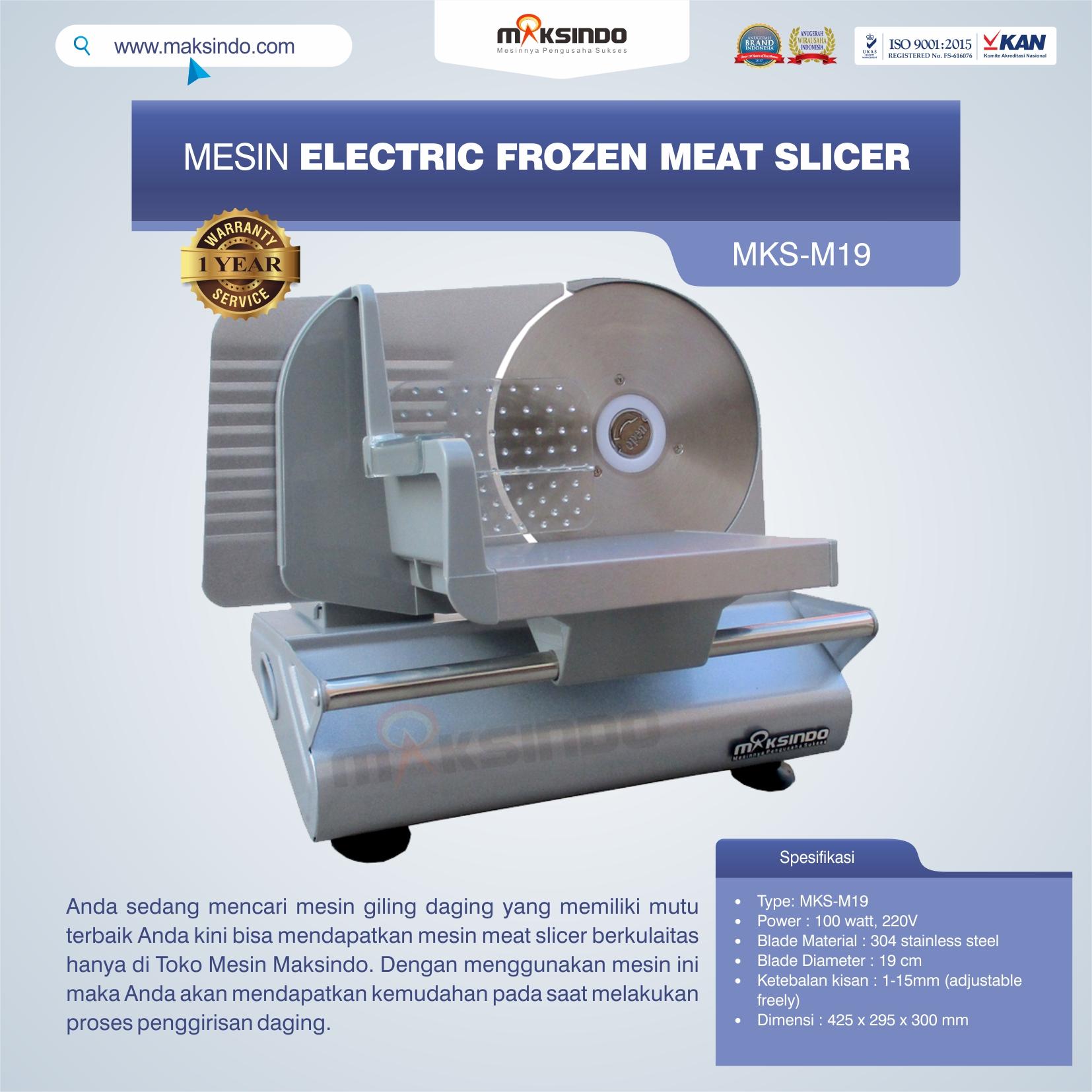 Jual Mesin Electric Frozen Meat Slicer MKS-M19 di Yogyakarta