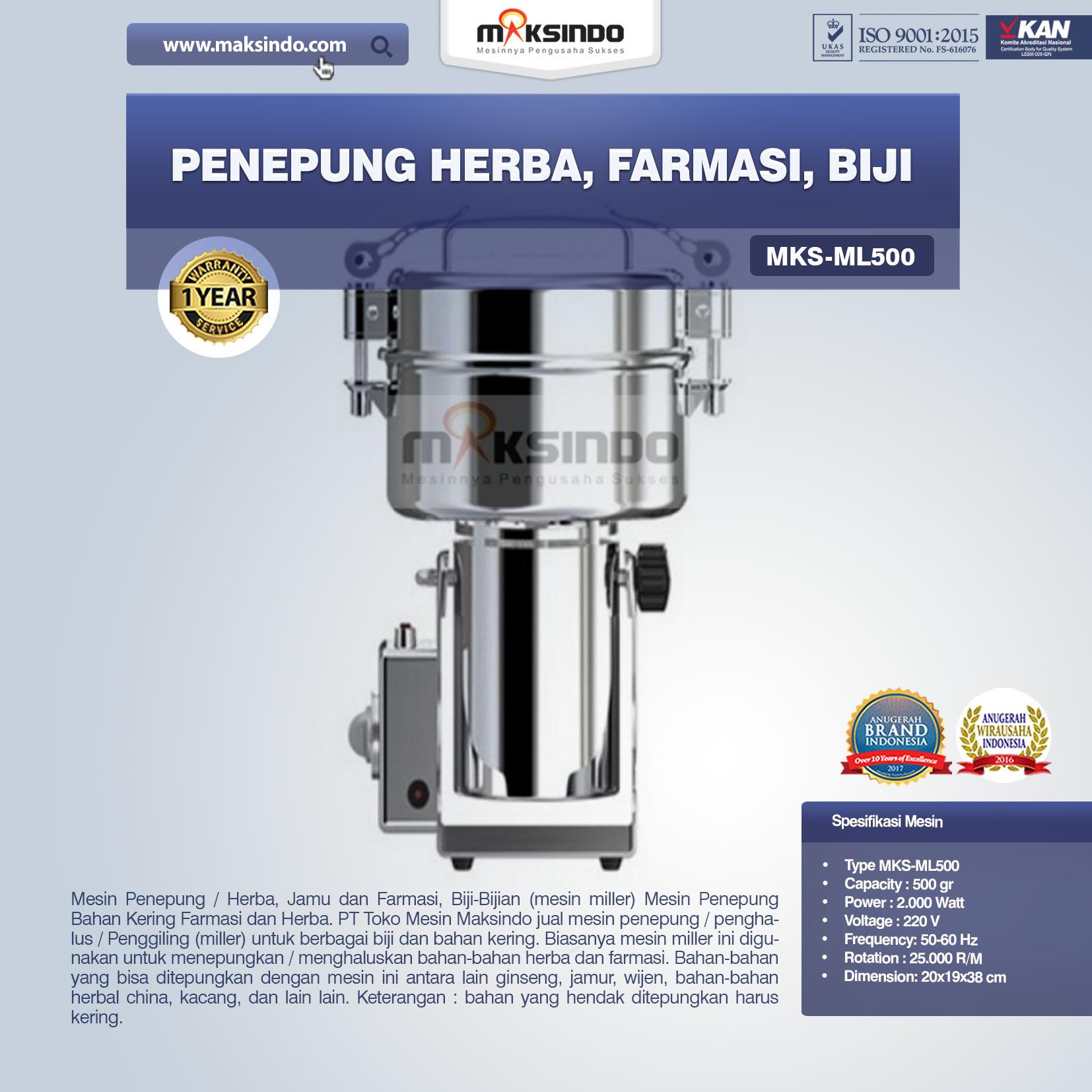 Jual Penepung Herba, Farmasi, Biji (ML500) di Yogyakarta
