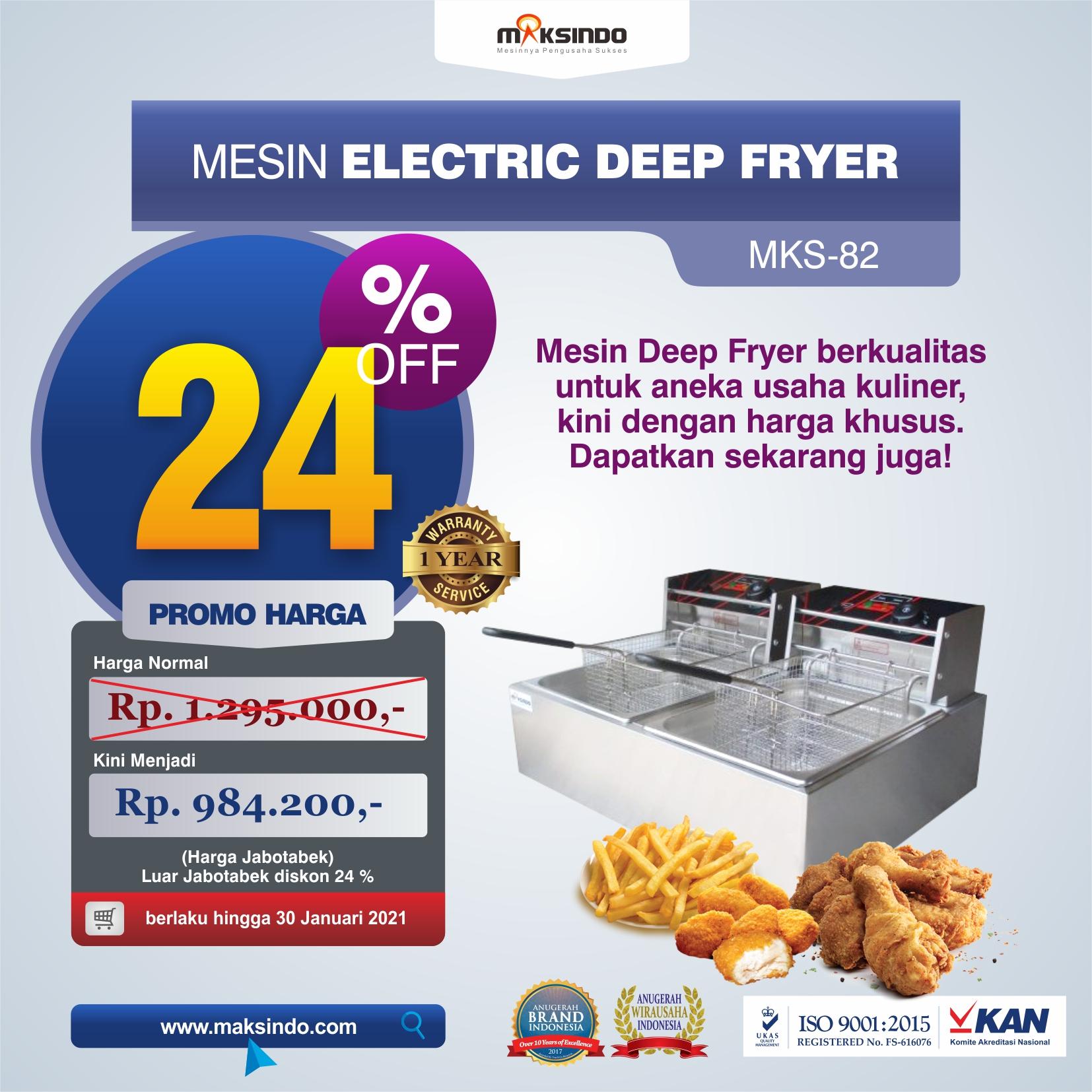 Jual Mesin Electric Deep Fryer MKS-82 di Yogyakarta