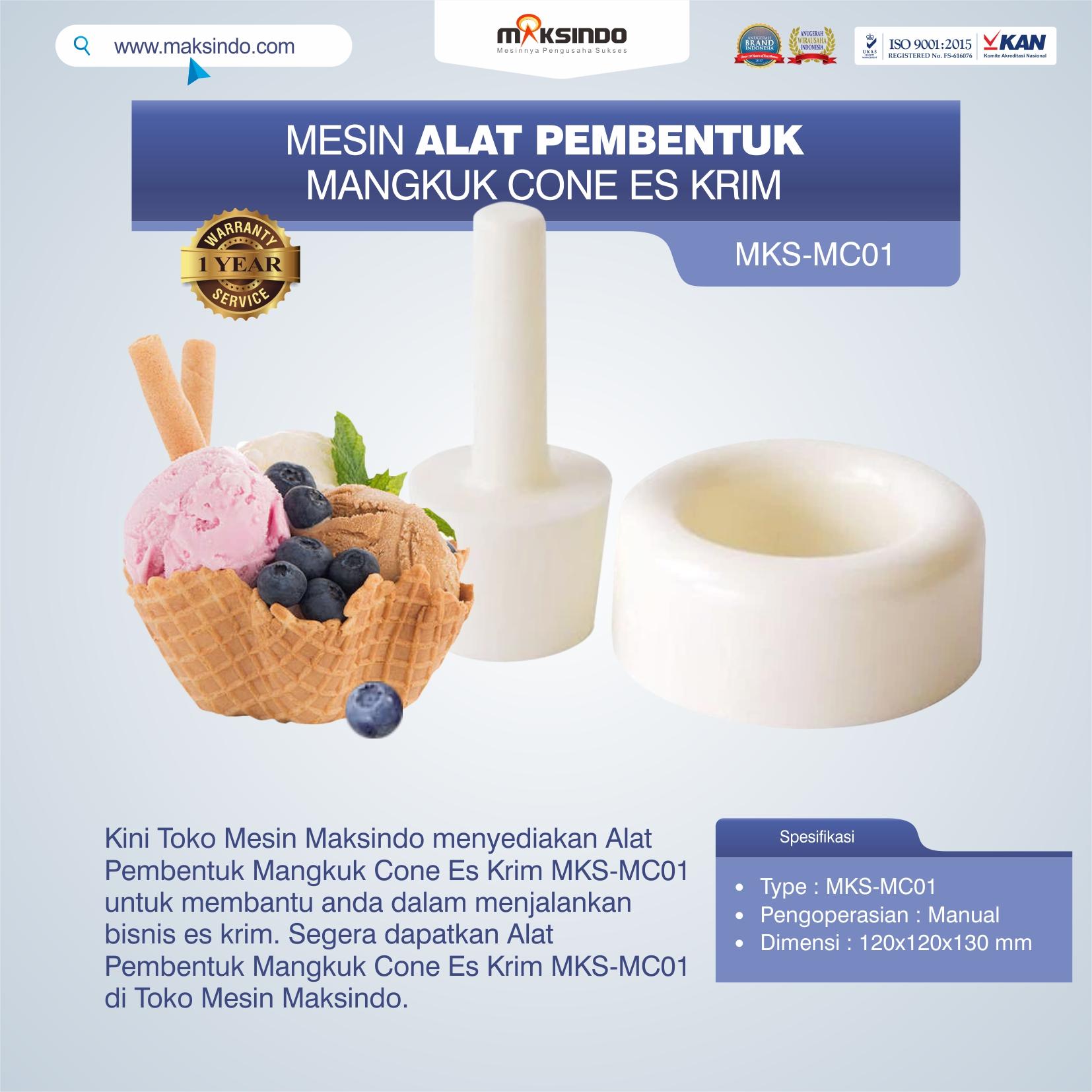 Jual Alat Pembentuk Mangkuk Cone Es Krim MKS-MC01 di Yogyakarta