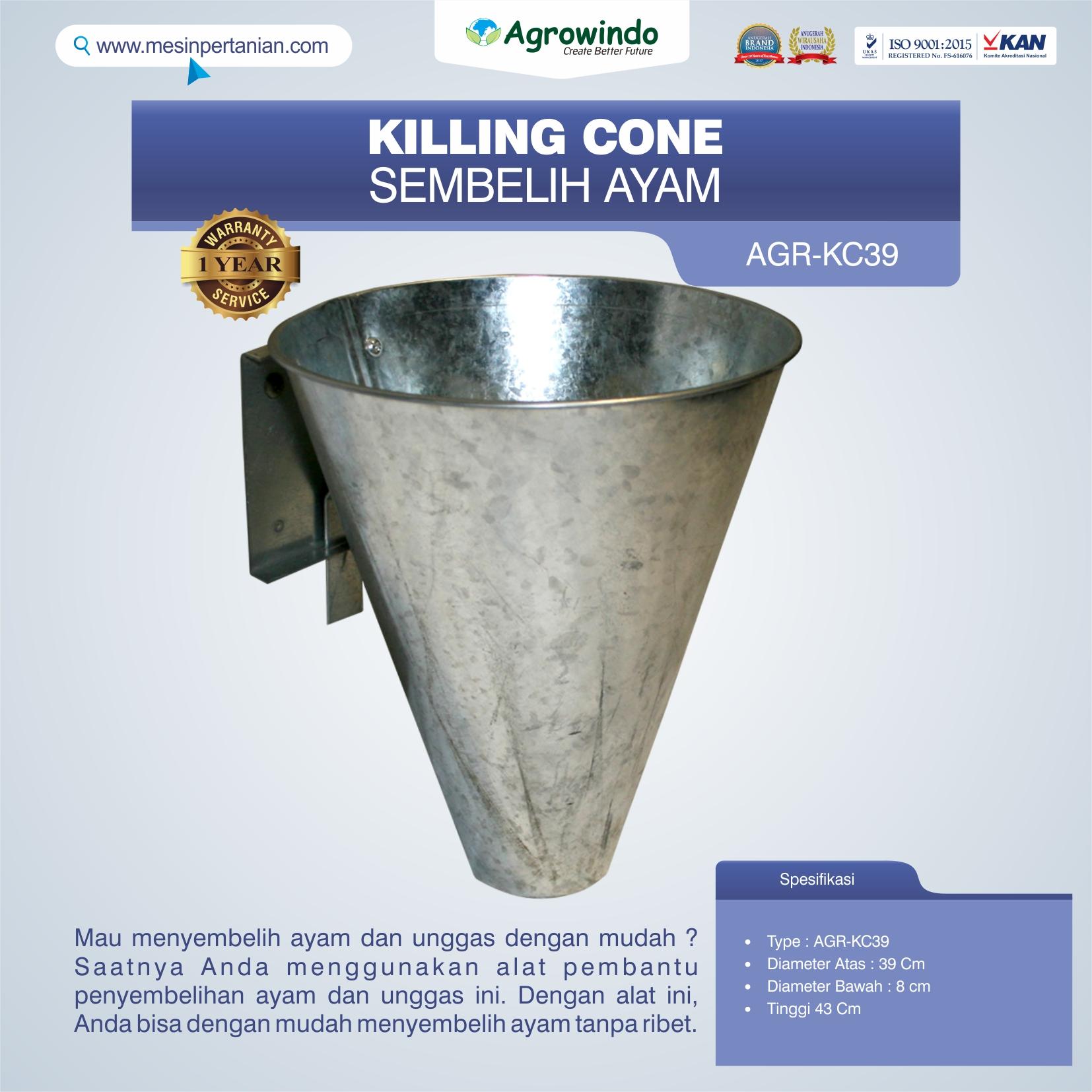 Jual Killing Cone Alat Sembelih Ayam di Yogyakarta