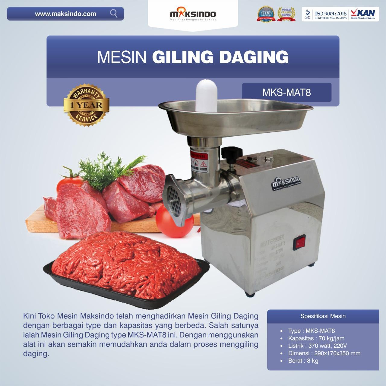 Jual Mesin Giling Daging MKS-MAT8 di Yogyakarta