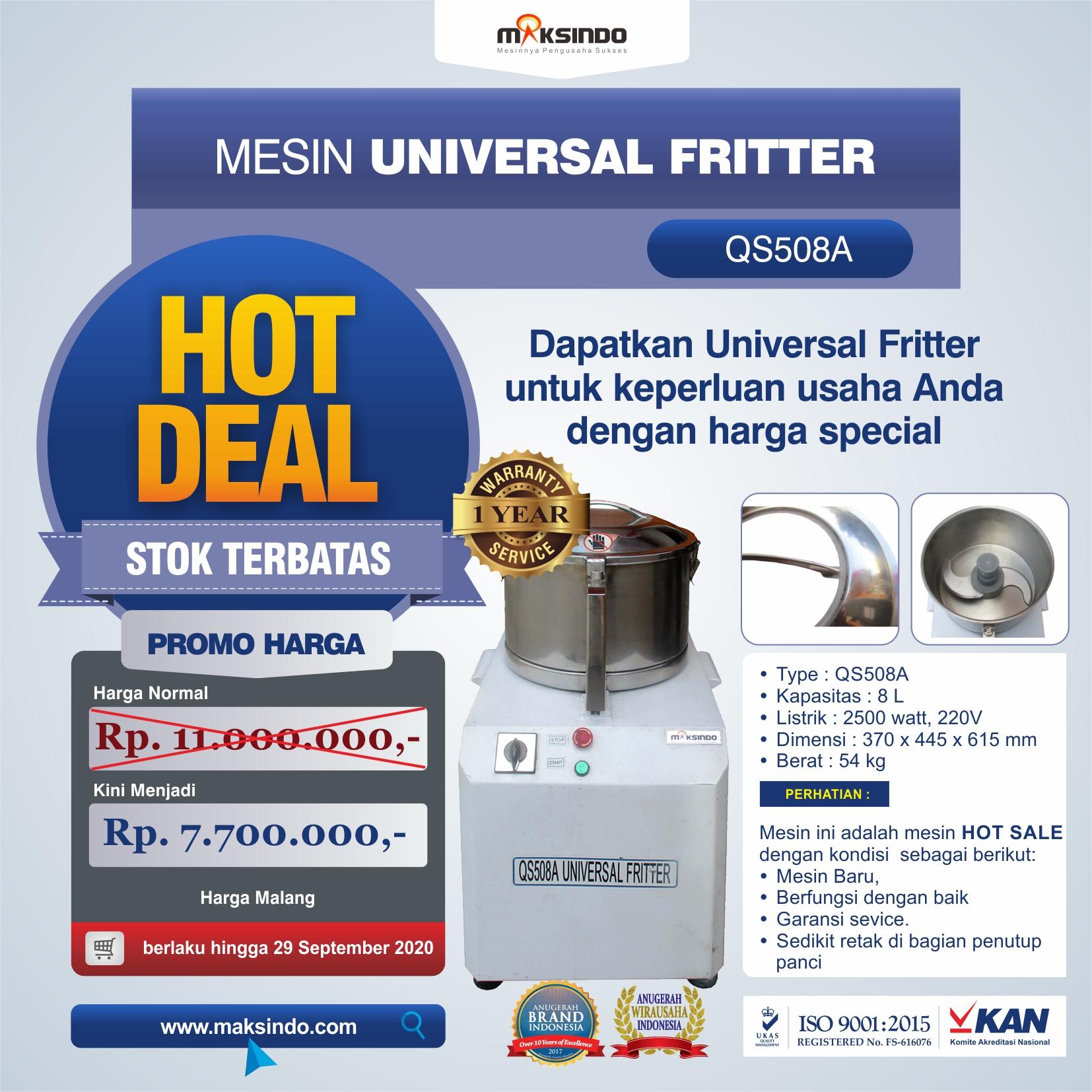 Jual Mesin Universal Fritter QS508A di Yogyakarta
