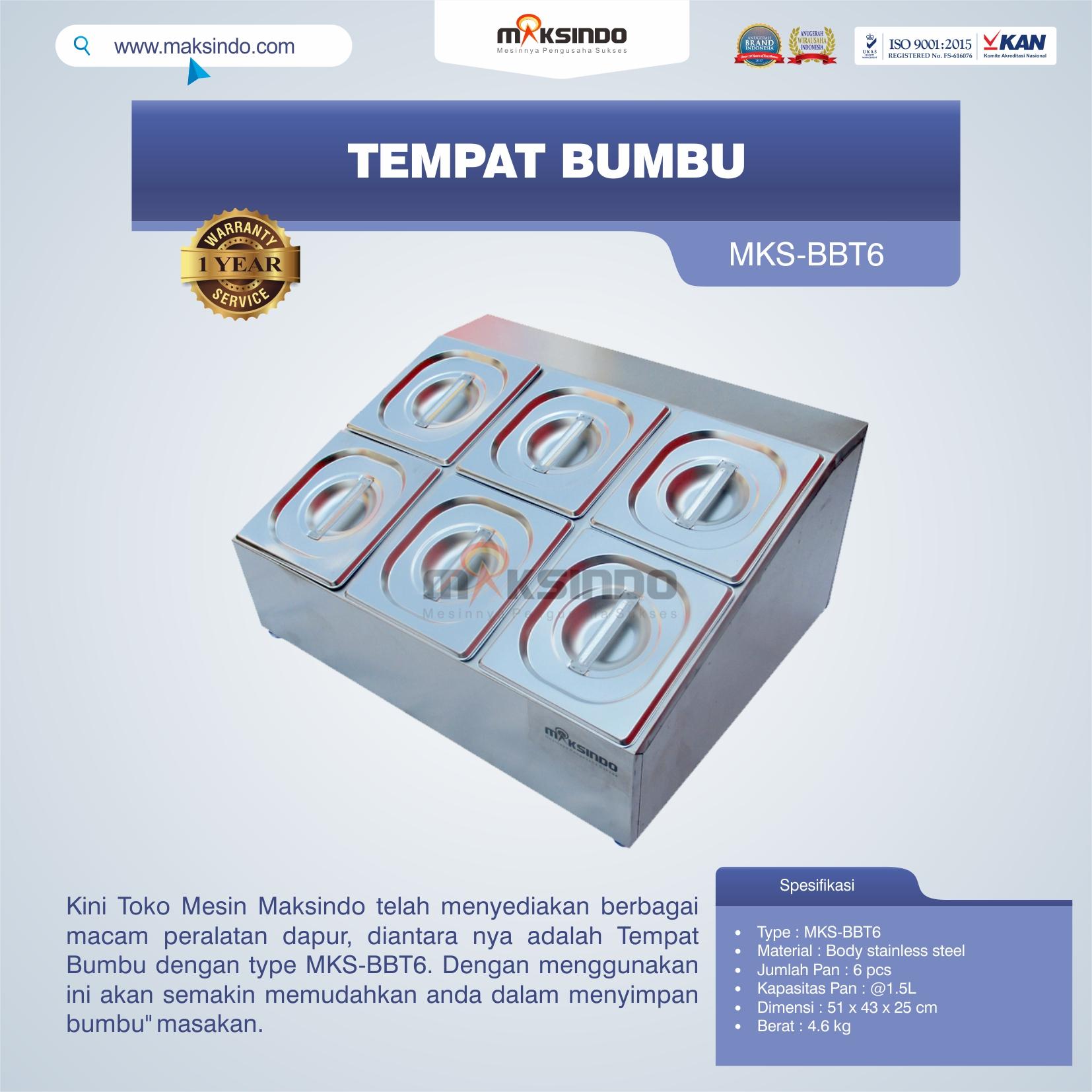Jual Tempat Bumbu MKS-BBT6 di Yogyakarta