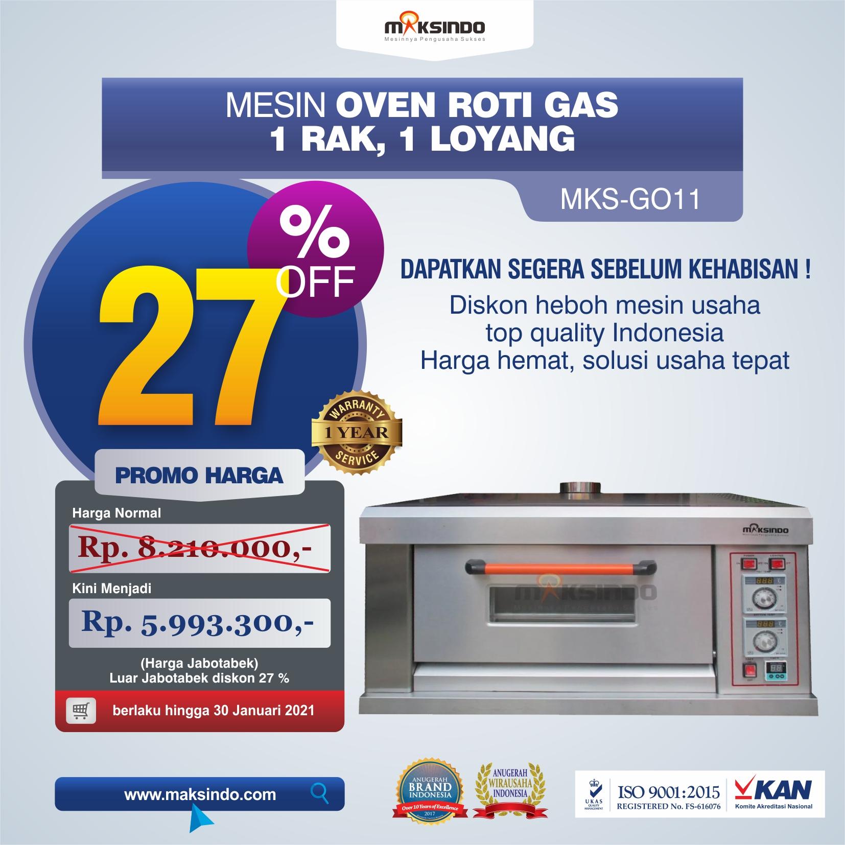 Jual Mesin Oven Roti Gas (MKS-GO11) di Yogyakarta