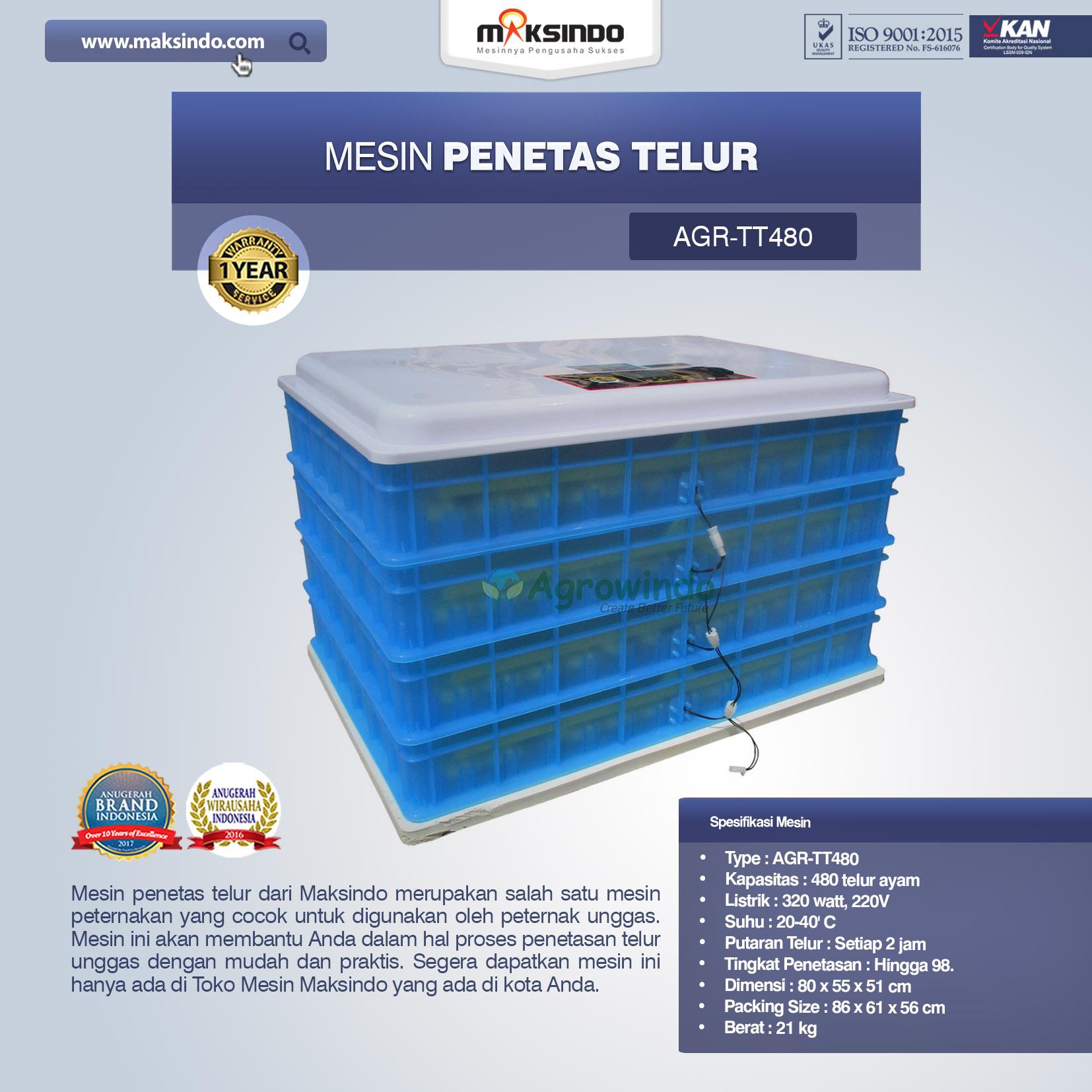 Jual Mesin Penetas Telur AGR-TT480 di Yogyakarta