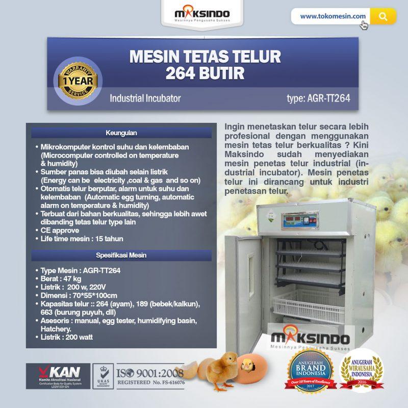 Jual Mesin Tetas Telur Industri 264 Butir (Industrial Incubator) di Yogyakarta