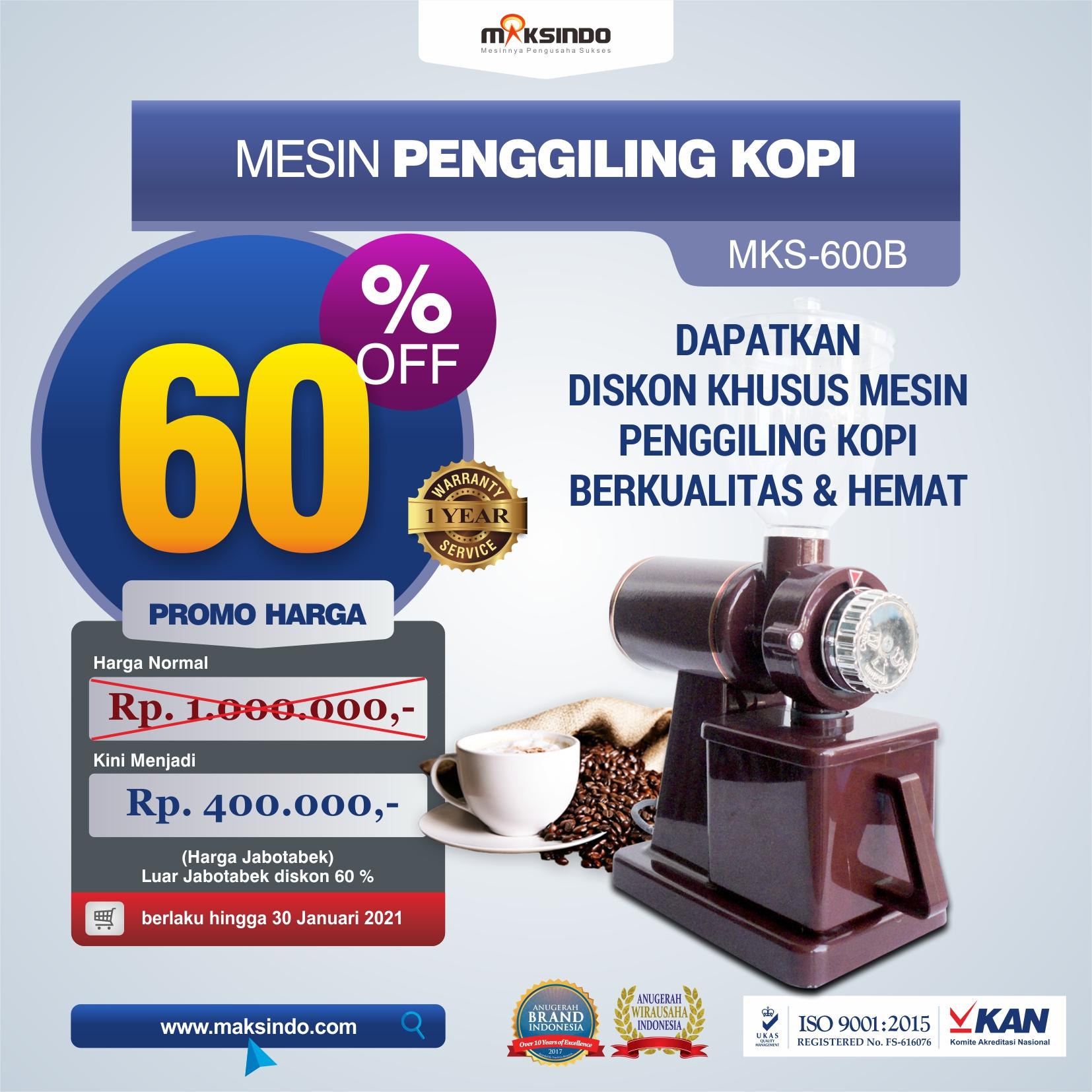 Jual Mesin Penggiling Kopi (MKS-600B) di Yogyakarta