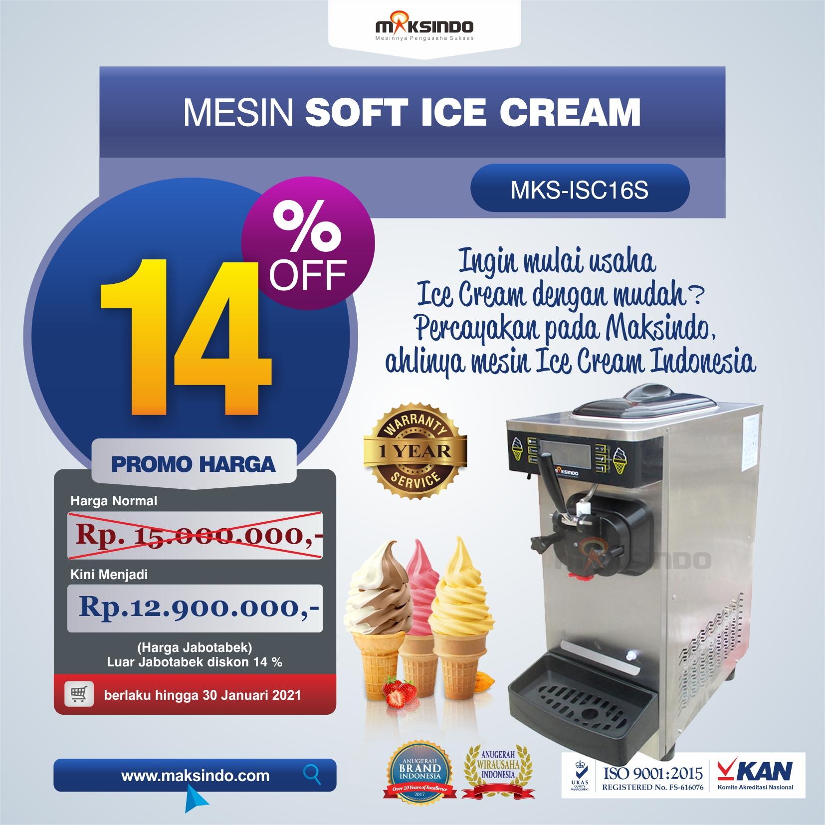 Jual Mesin Soft Ice Cream ISC-16S di Yogyakarta