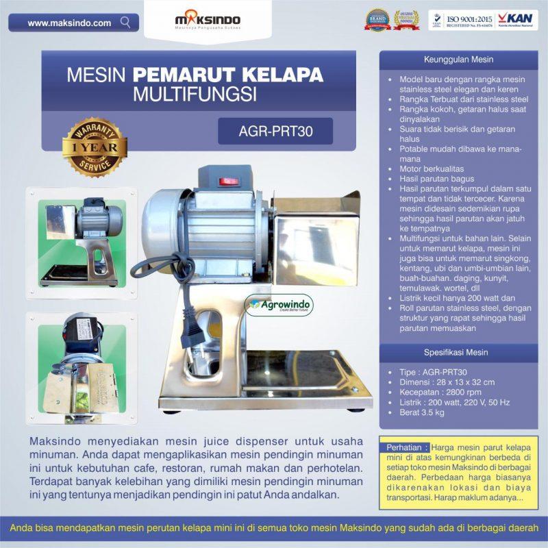 Jual Mesin Pemarut Kelapa Multifungsi AGR-PRT30 di Yogyakarta