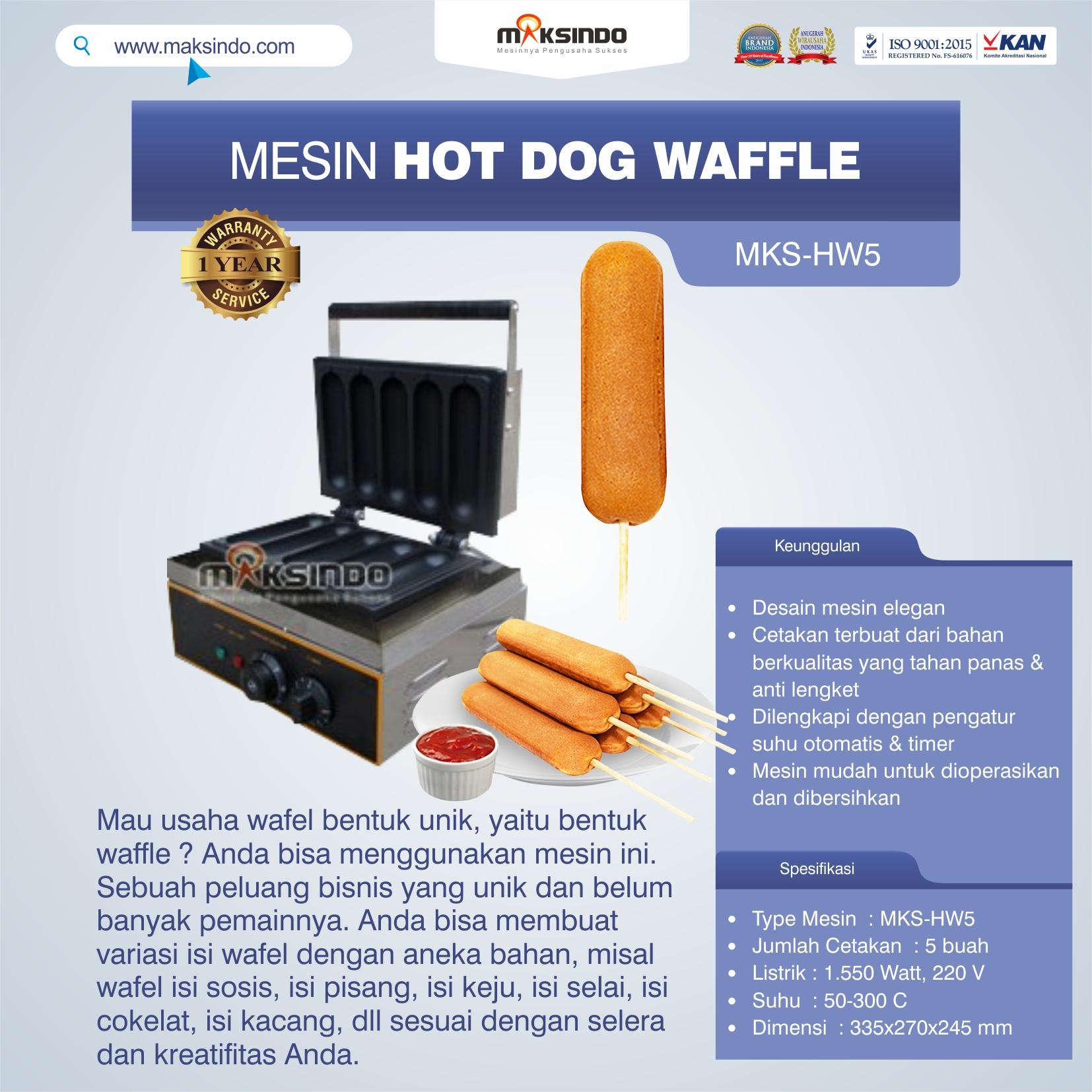 Jual Mesin Hot Dog Waffle MKS-HW5 di Yogyakarta